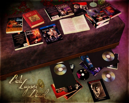 Vampire Clutter: Books and DVDs от Aikea guinea