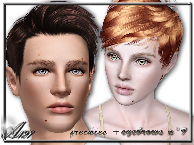 Set Eyebrows e Freckles by altea127