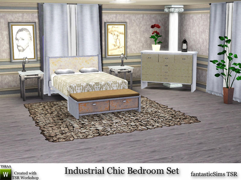 Industrial Chic Bedroom Set by fantasticSims