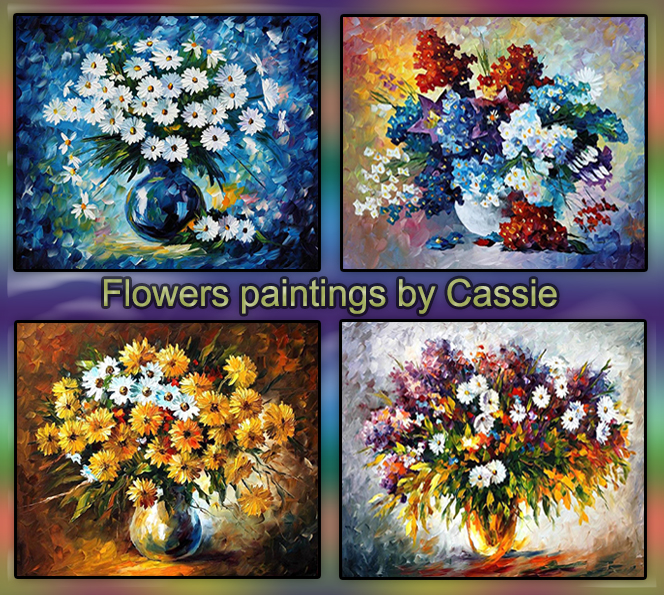 Flowers paintings by Cassie