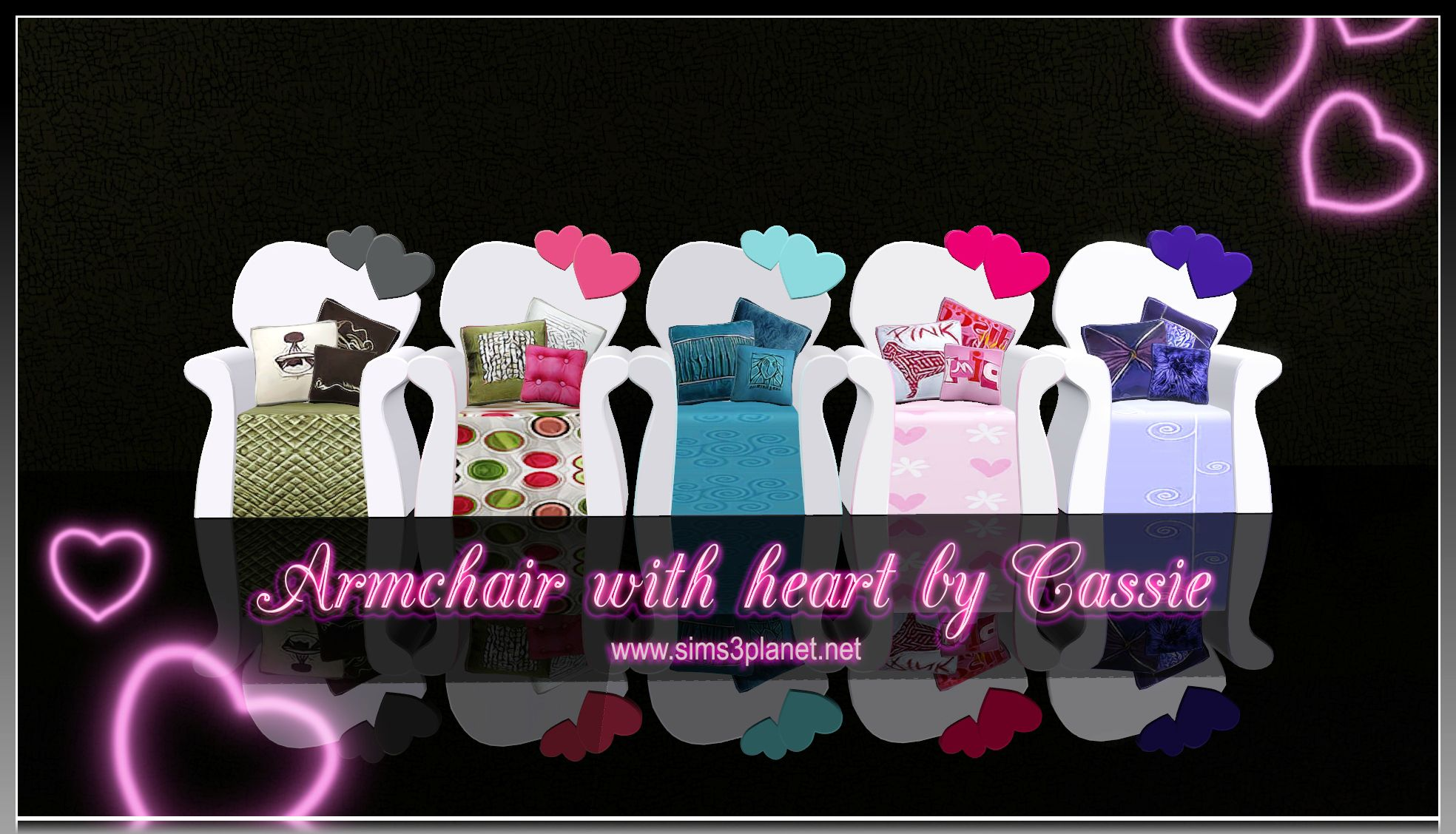 Armchair with heart by Cassie