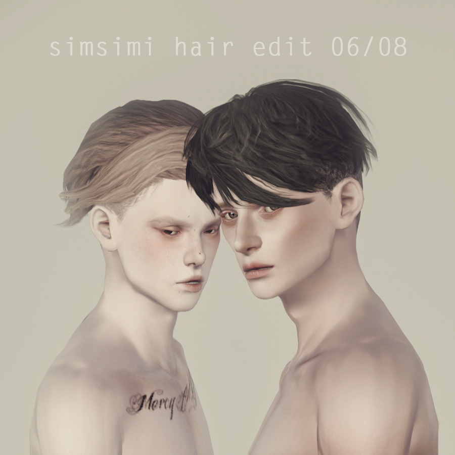06 & 08 Hair Edits for Males by Simsimi