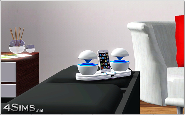 Futuristic iPod Docking Station as stereo by Mirel