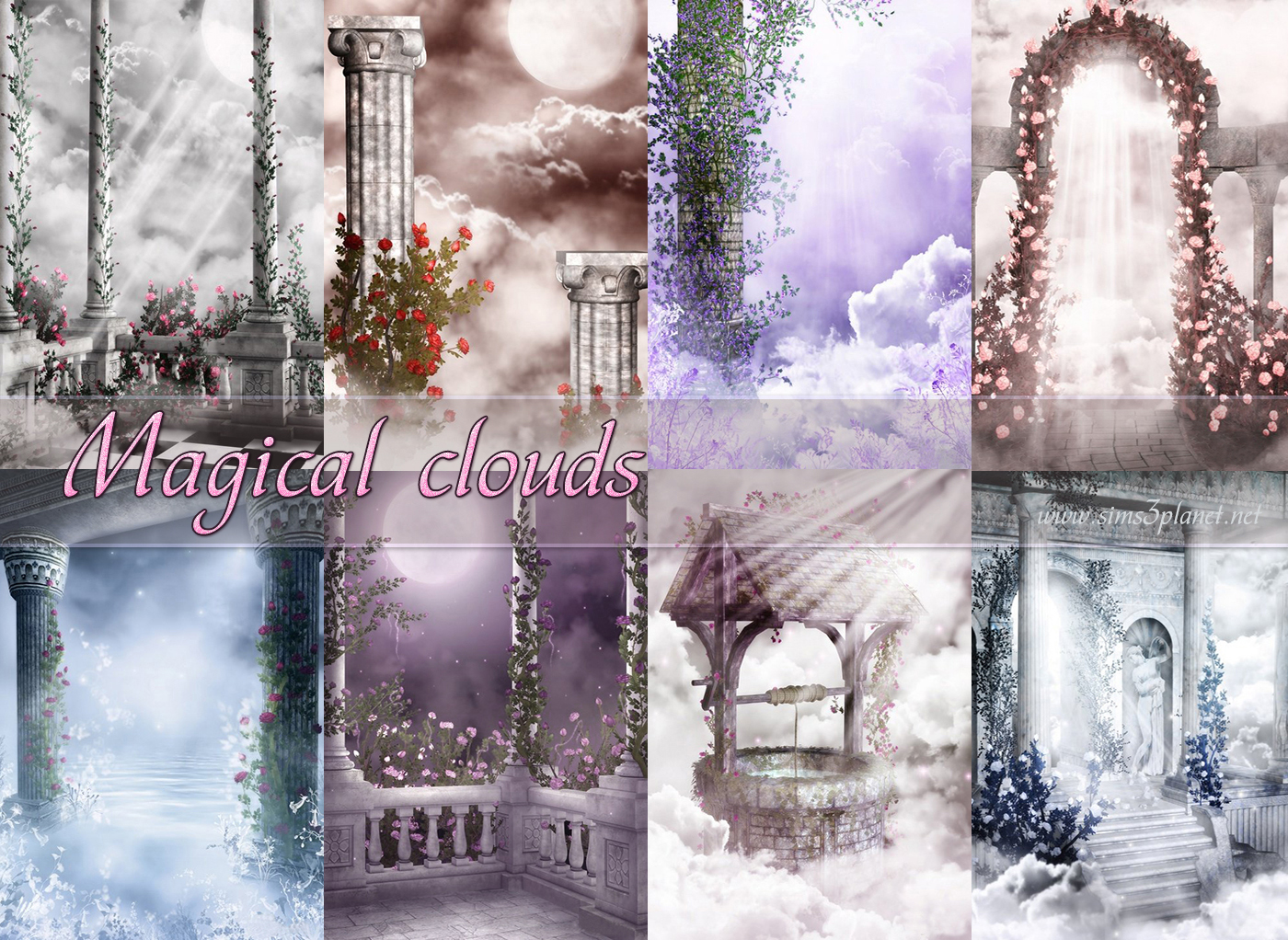 Magical clouds backgrounds by Torri
