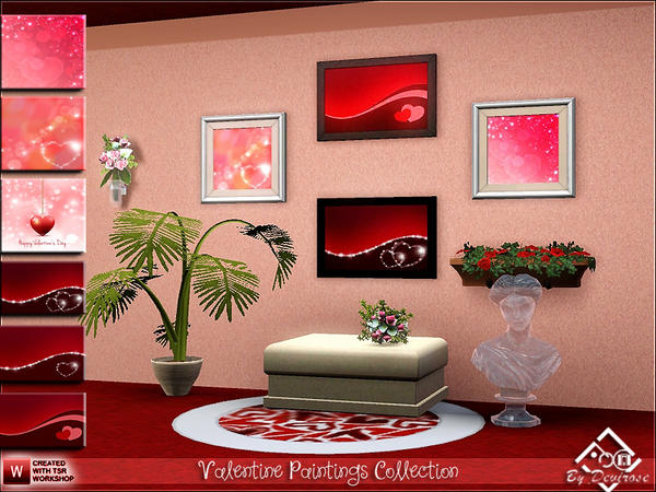 Valentine Paintings Collection by Devirose