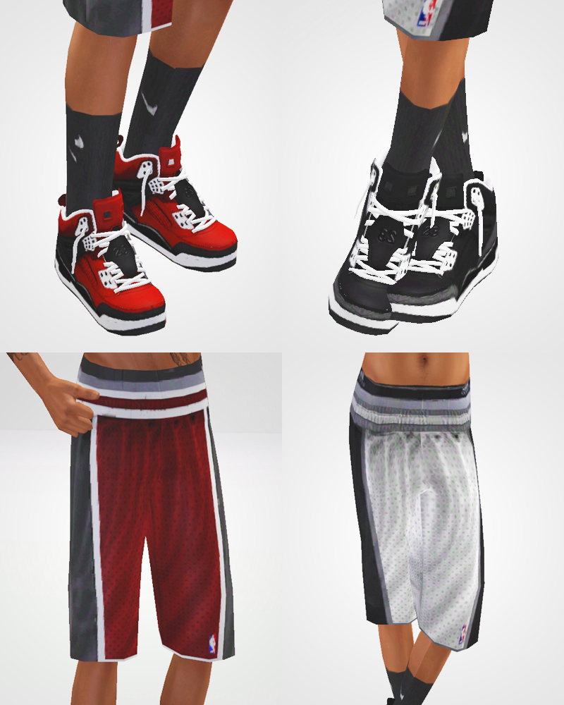 Basketball Shorts and Jordan Retro 3s for Toddler - Adult Males by Chunkysims