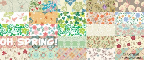 New Patterns by Sims in Spring