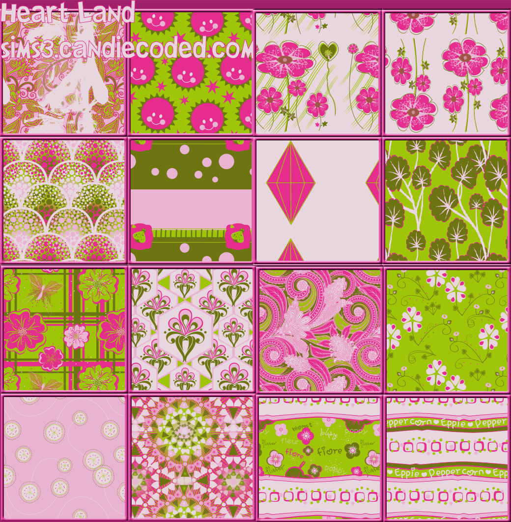 Patterns set by Candie Coded Sims