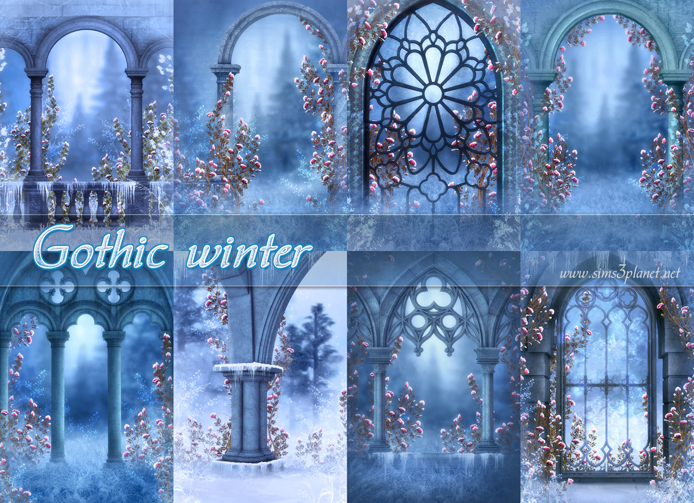 Gothic winter backgrounds by Torri