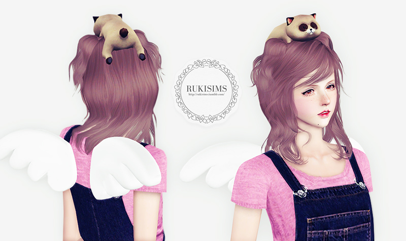 popo hat and dokidoki wing by Rukisims