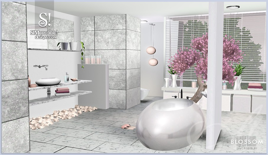 Blossom bathroom by Simcredible Designs
