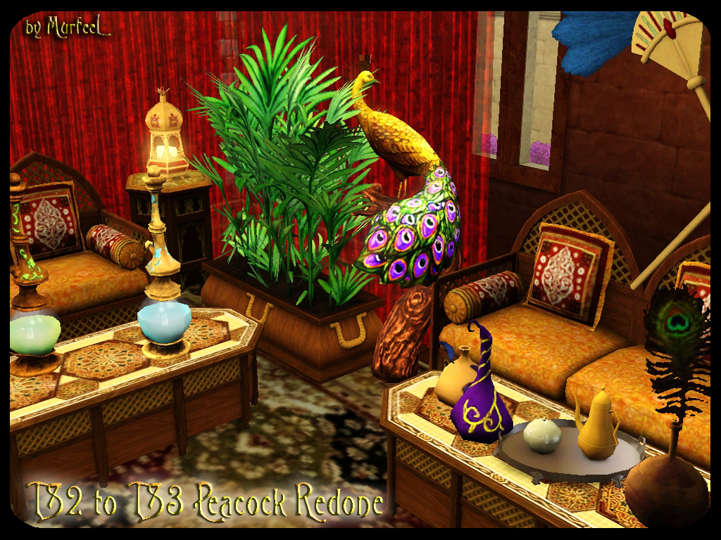 Sims 2 Peacock for The Sims 3 by Murfeelee