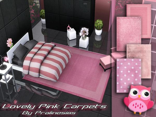 Lovely Pink Carpets by Pralinesims