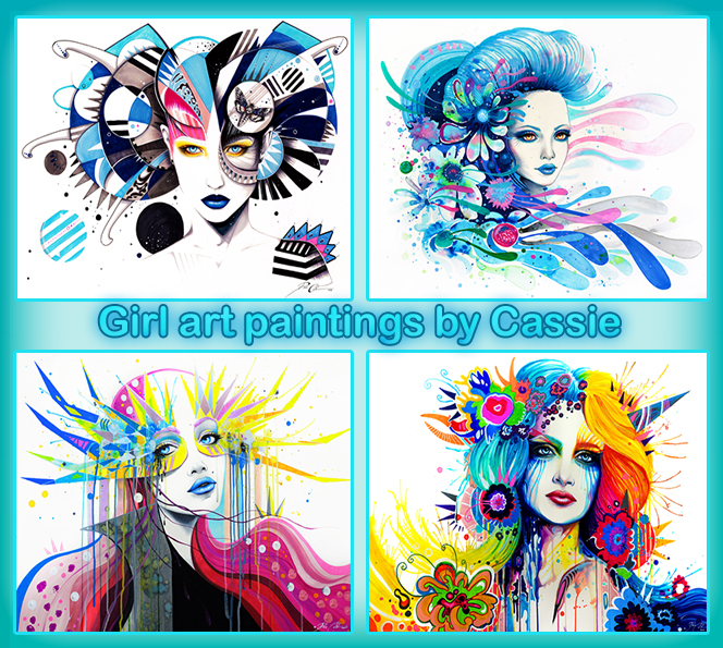 GirlArt paintings by Cassie