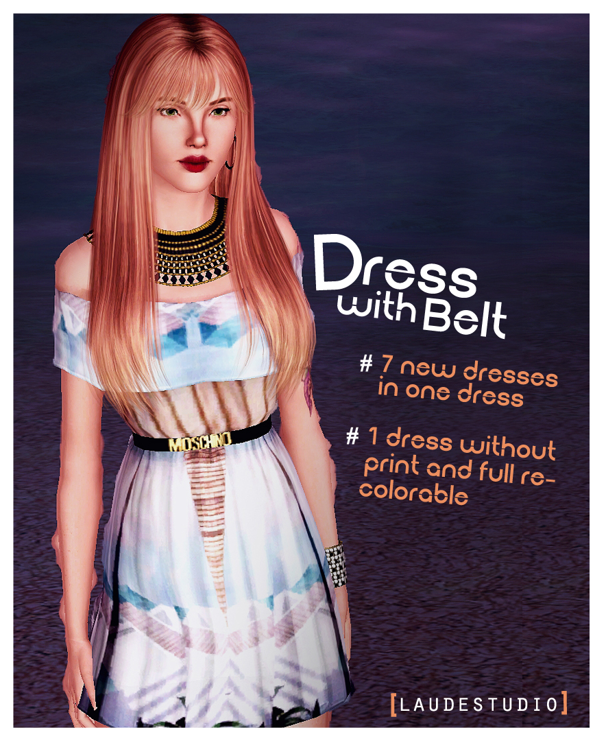 Dress With Moschino Belt by Laudestudio