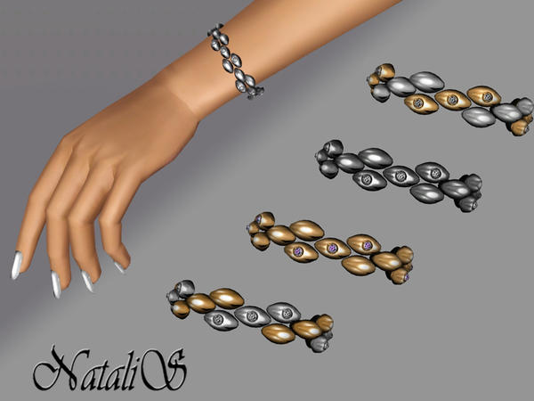 Metal Drops with Crystals Bracelet FT-FE by NataliS