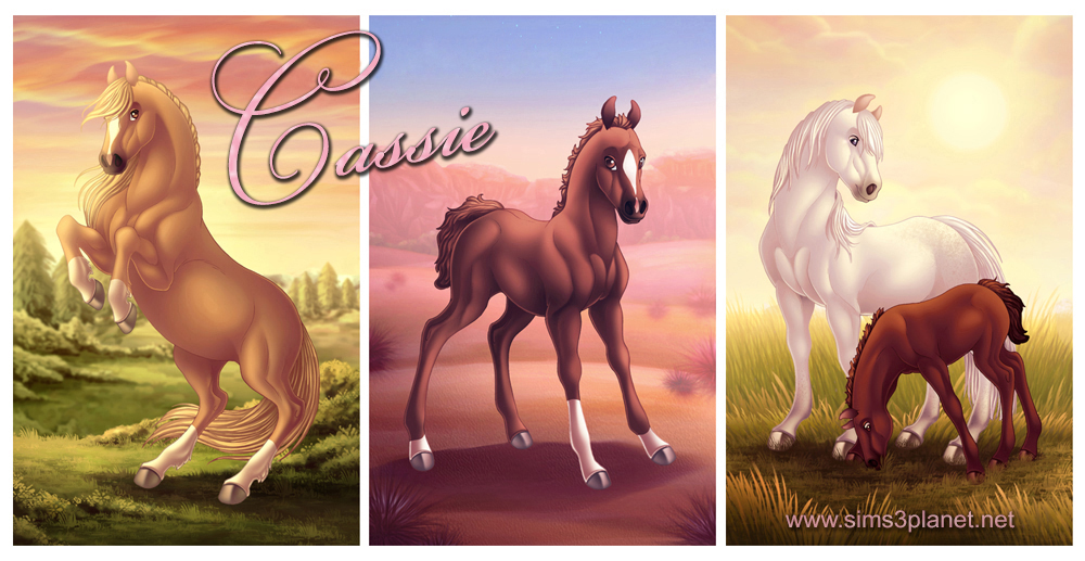Fantasy Horses paintings by Cassie