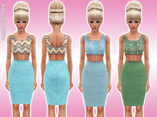 Crop Top and Midi Skirt by Alexandra_Sine