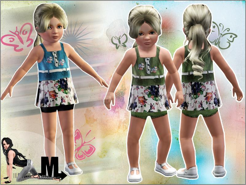 Denim Toddler Dress by miraminkova