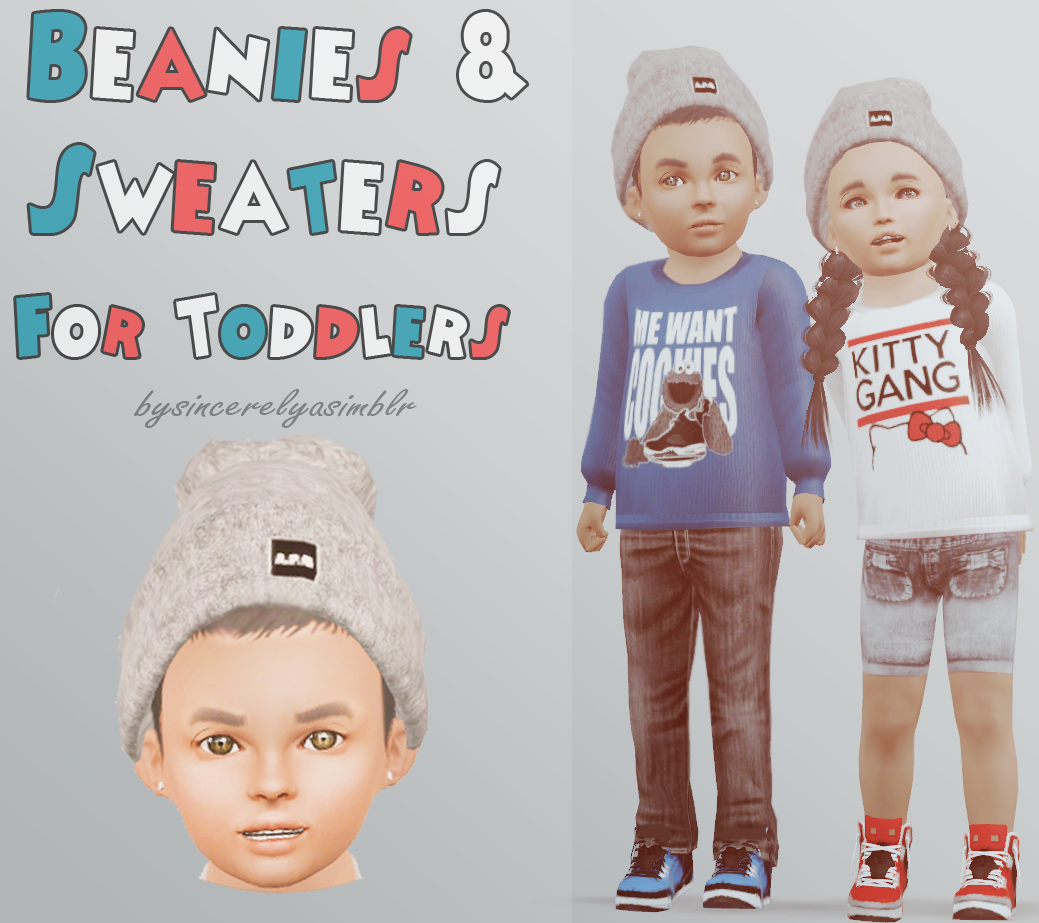 Toddler Sweaters & Beanies by Sincerelyasimblr