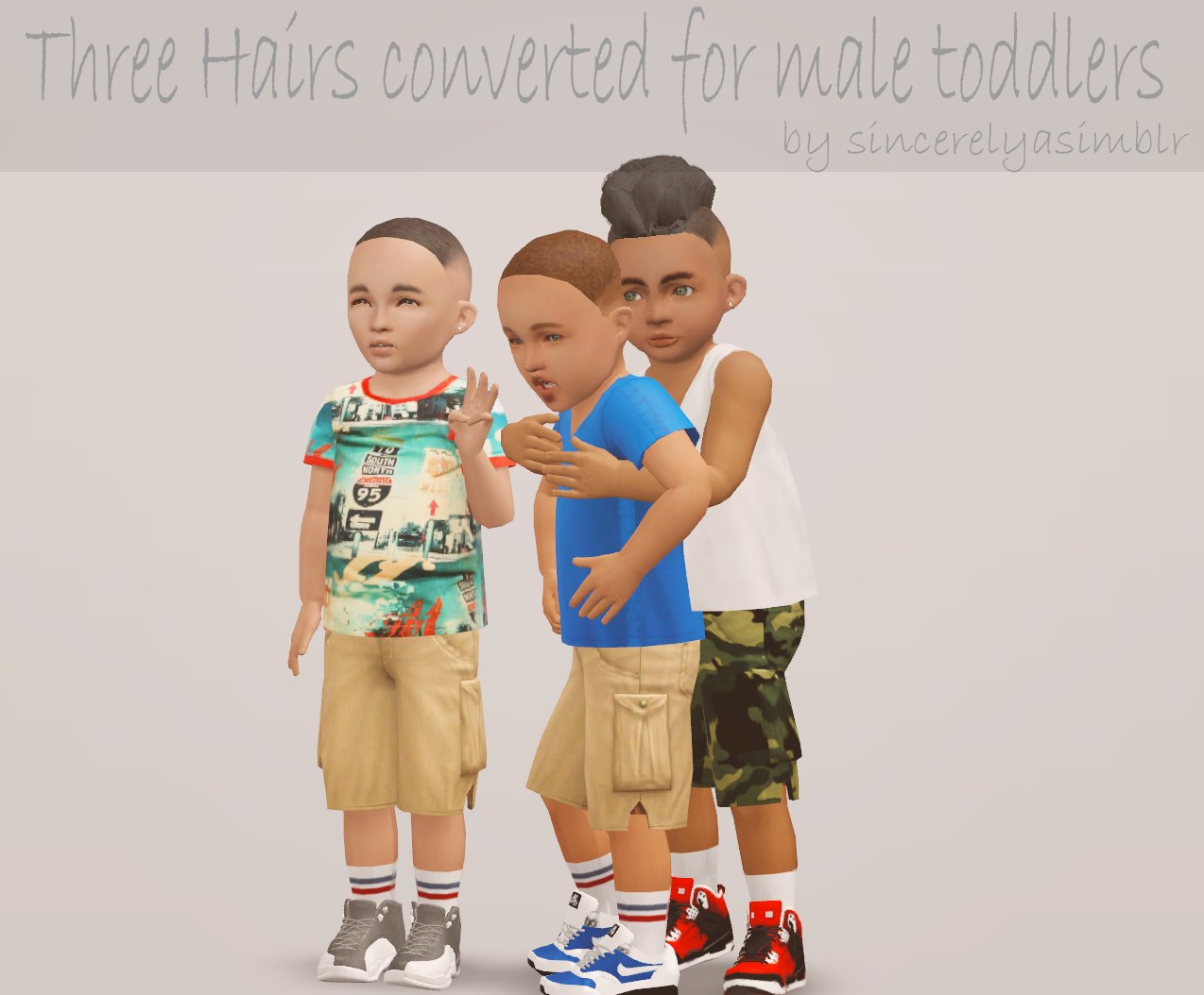 Hair Conversions for Male Toddlers by Sincerelyasimblr