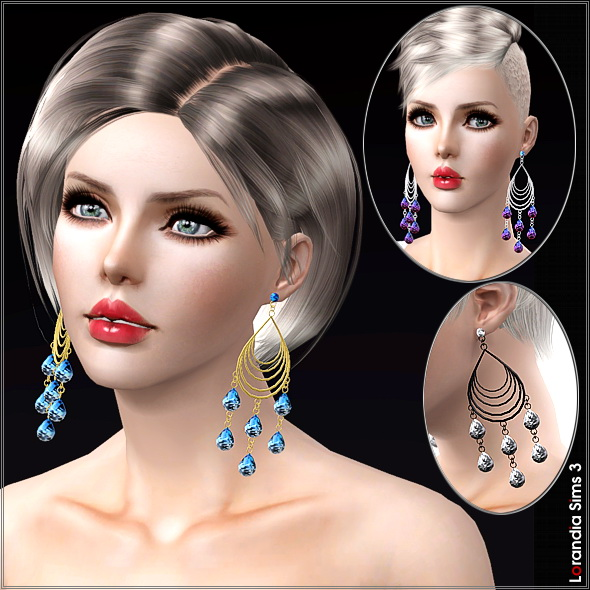 Large chandelier earrings with crystals by Lore