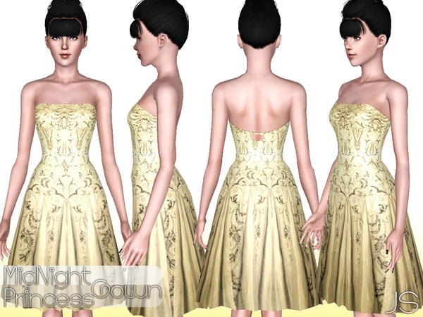 Midnight Princess Gown by JavaSims