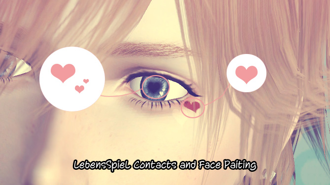 Heart Contacts and Face Painting by Youcha-ls