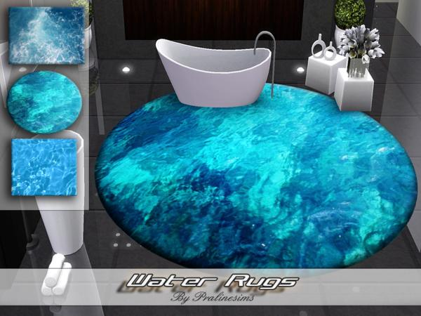 Water Rugs by Pralinesims