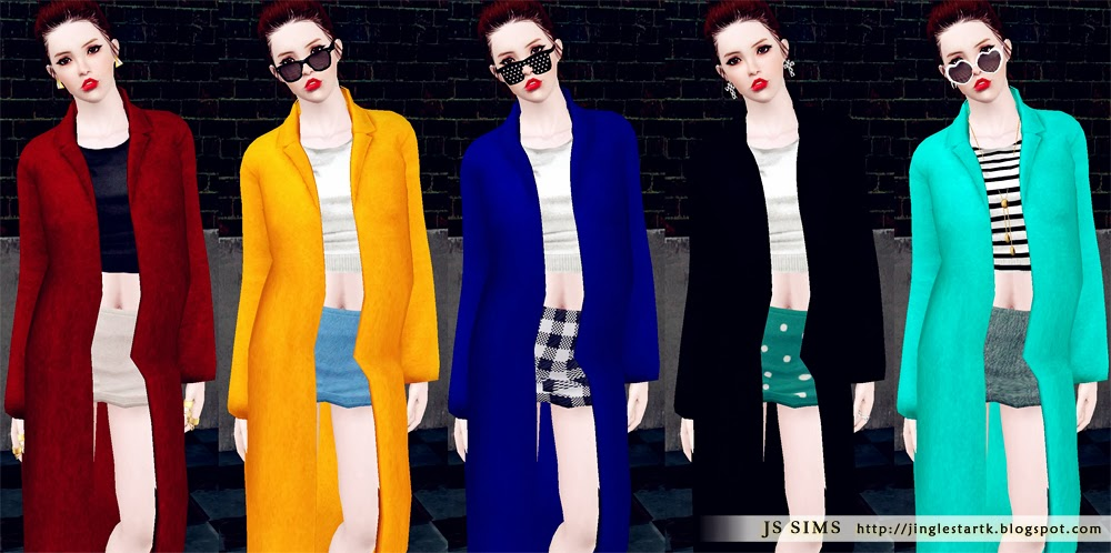 Modern Basic Long Coat Outfit by JS Sims 3