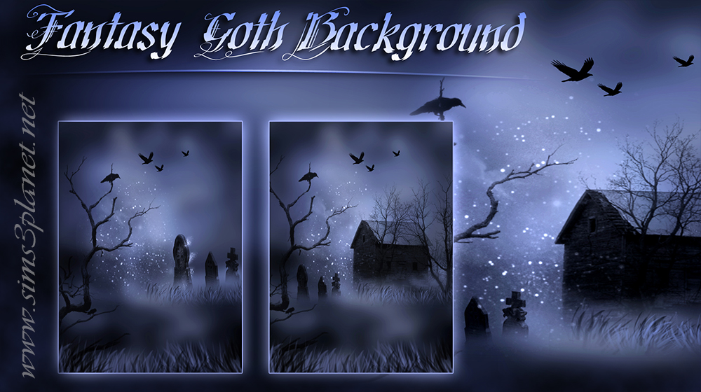 Fantasy Goth Background by Anarchy-Cat