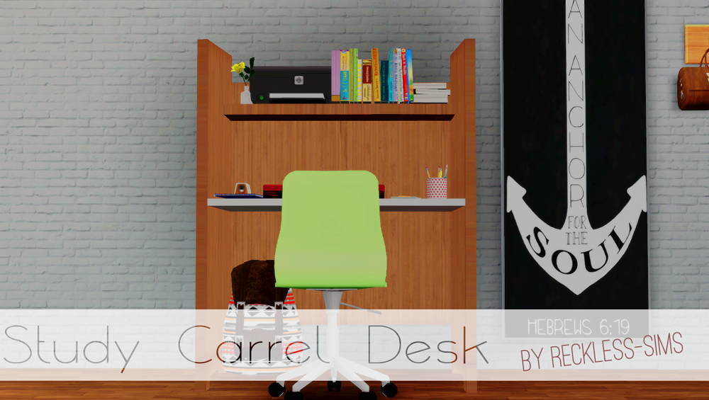 Study Carrel Desk by Reckless Sims
