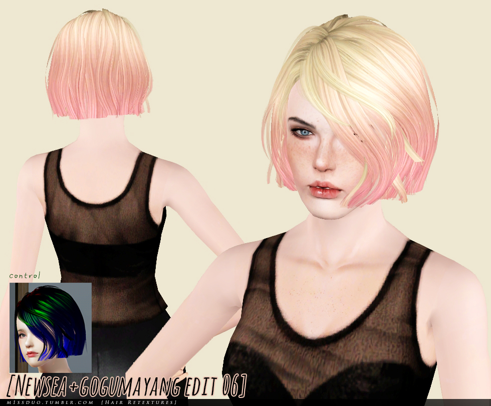 Newsea J137 Hair Retextures by M1ssduo