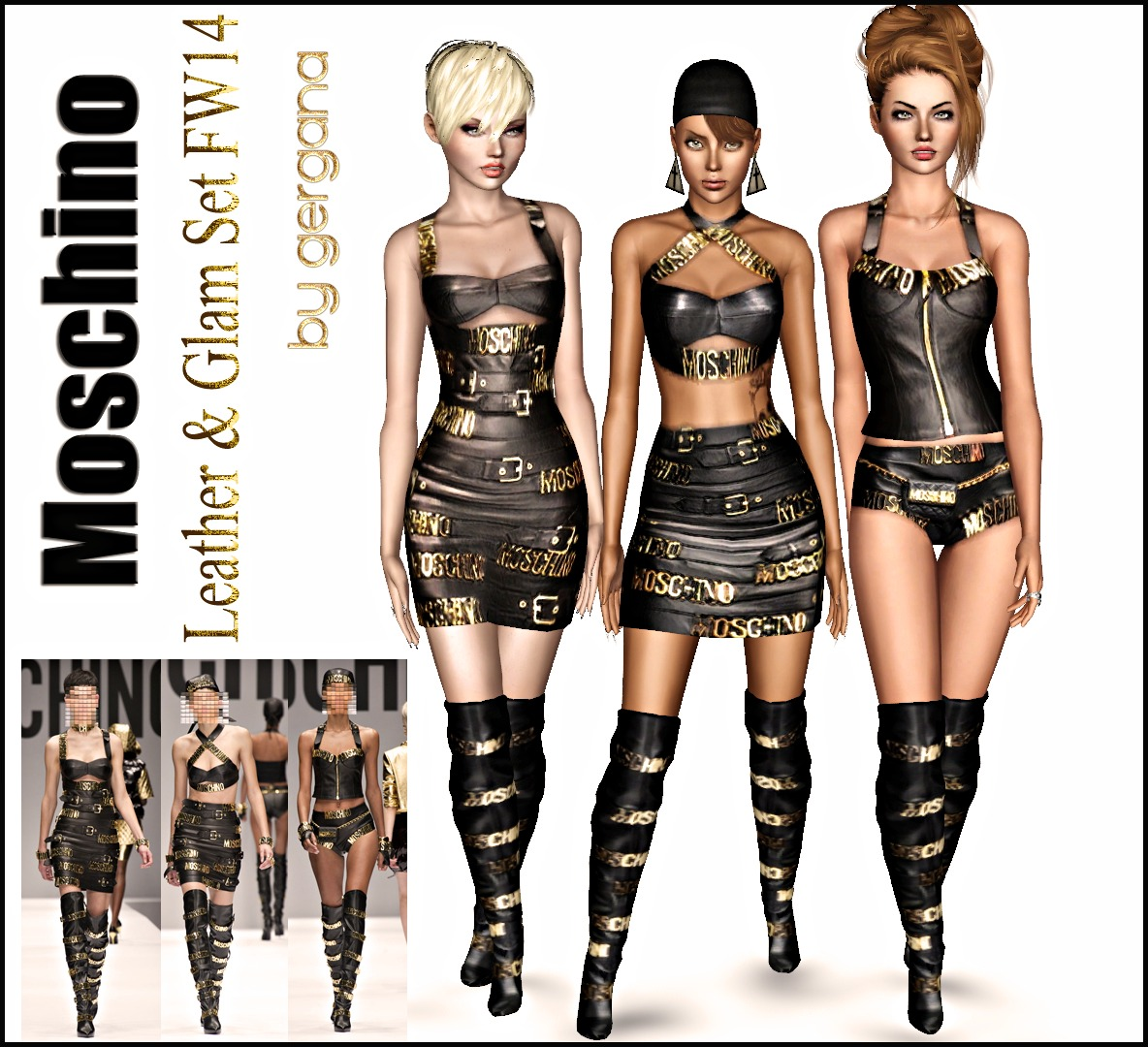 Moschino & J.Scott FW2014 Leather & Glam Set by gergana