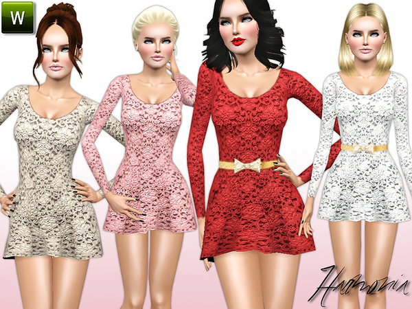 Fit-and-flare Lace Dress by Harmonia
