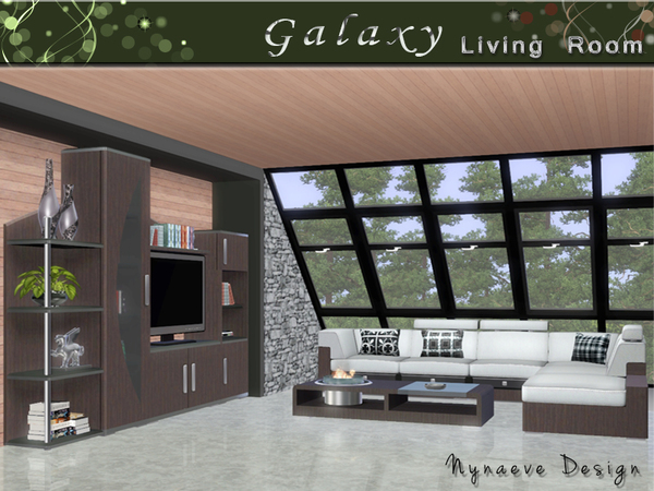 Galaxy Living Room by NynaeveDesign