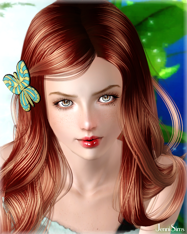 Butterfly Earring and Accessory Hair Butterfly recolorable by Jenni