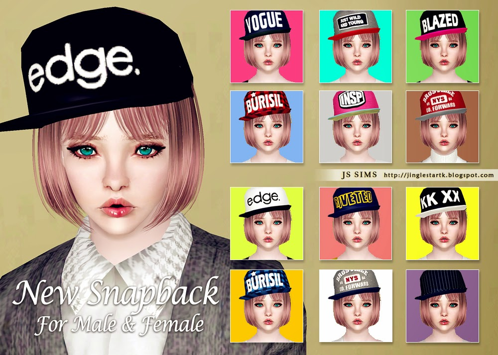 New Snapback for males and females by JS Sims 3