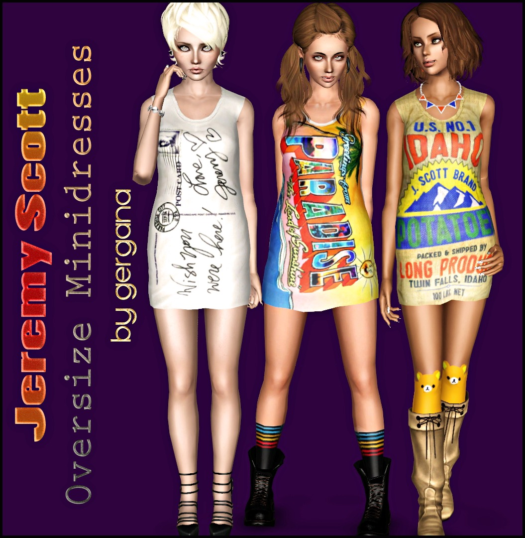 3 cute Jeremy Scott Oversize Minidresses by Gergana