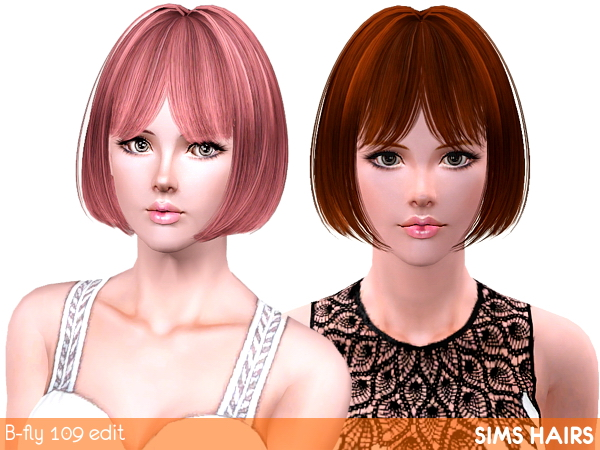 B-fly hairstyles 109 retextured by Sims Hairs
