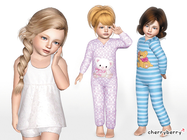 Cute sleepwear set *Toddlers* by CherryBerrySim