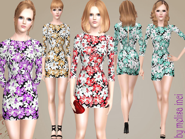 Flower pattern Dress by melisa inci