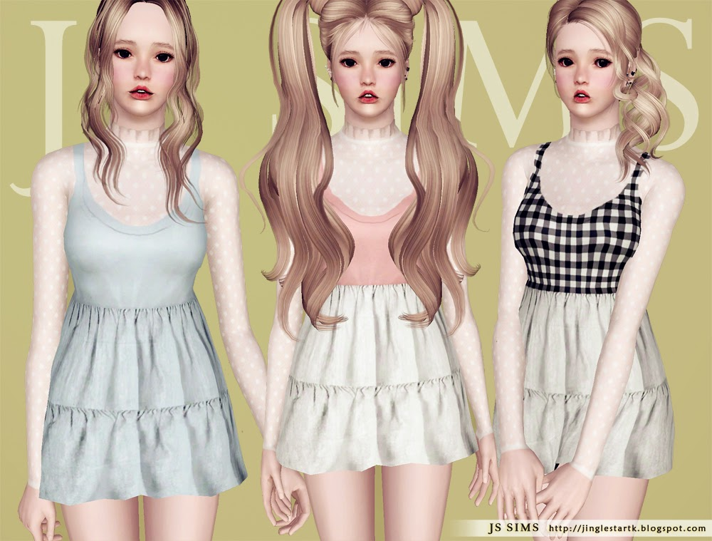 Accessory Lace Top and Sleeveless Dress by JS Sims 3
