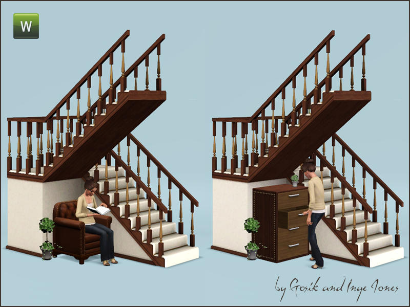 Cottage half landing stairs by Gosik