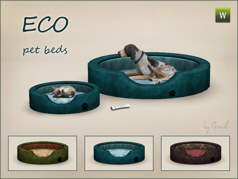 Eco pet beds by Gosik