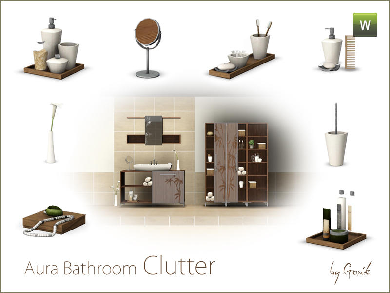 Aura bathroom clutter by Gosik