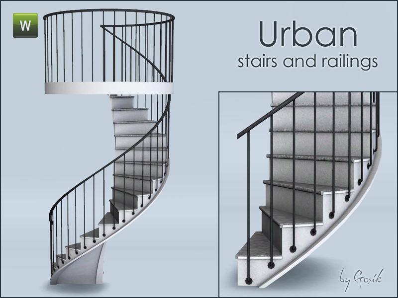 Fusion Spiral Stairs and Railings by Gosik