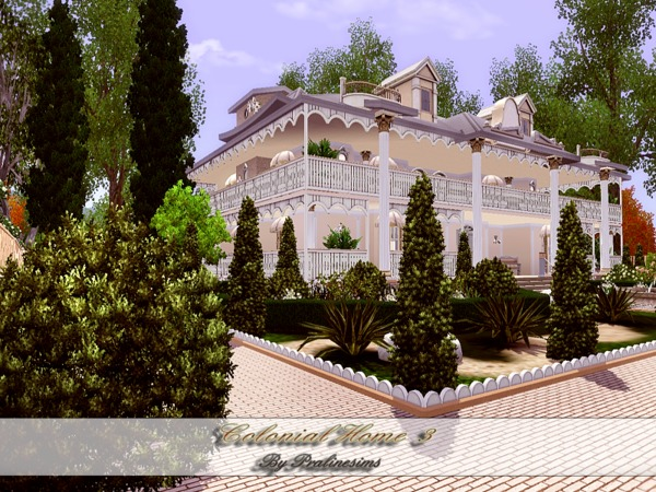 Colonial Home III by Pralinesims