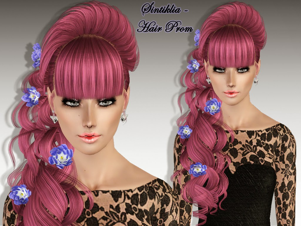 Female hair Prom for Sims 3 by Sintiklia
