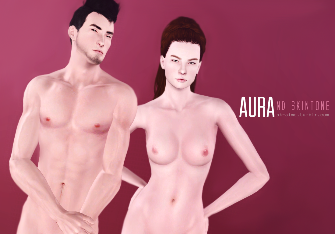 Aura Skintone & Lipstick by SK-Sims